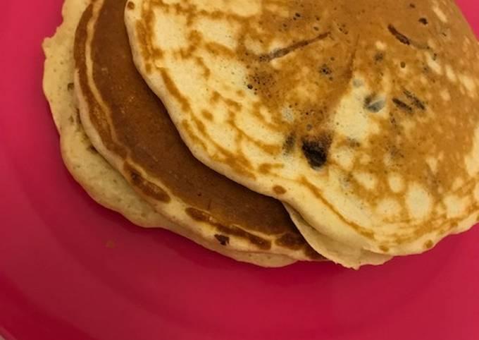 Pancake aux pépites de chocolat