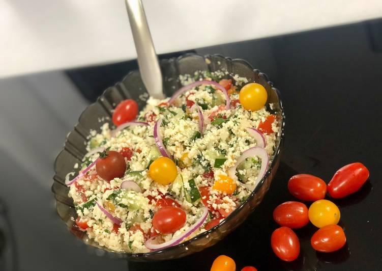Recette Appétissante Salade automnale de semoule de chou fleur