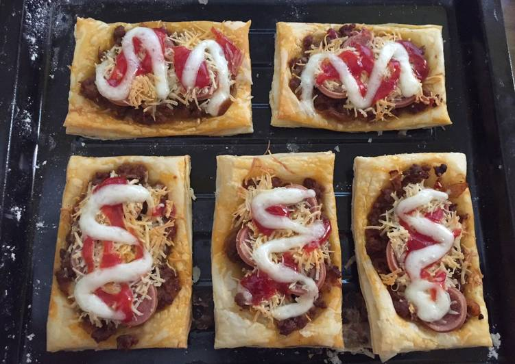 Resep Pastry piZza mini yang Enak Banget
