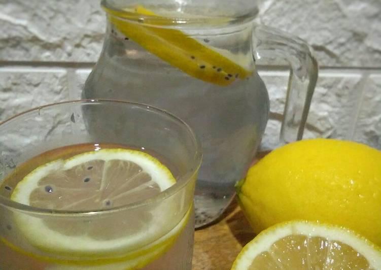 Detox lemon selasih - resepipouler.com