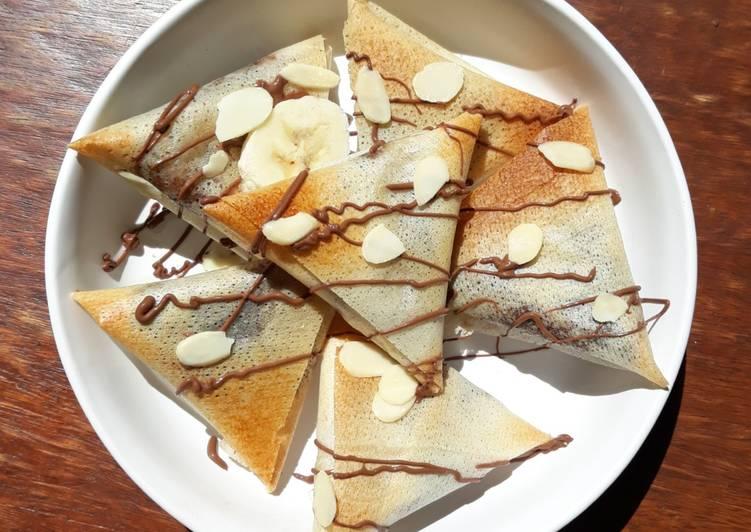 recette ☆Samoussas Choco Banane☆ Le plus simple