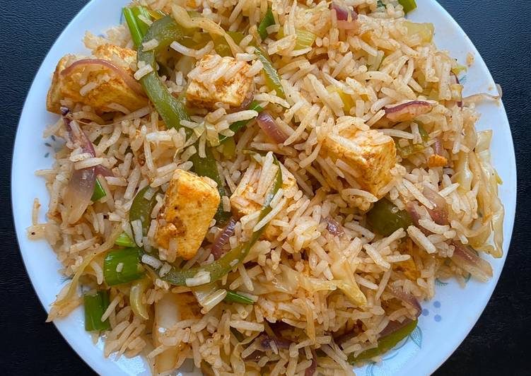 Recipe: Appetizing Paneer fried rice