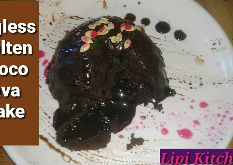 Eggless Molten choco lava cake