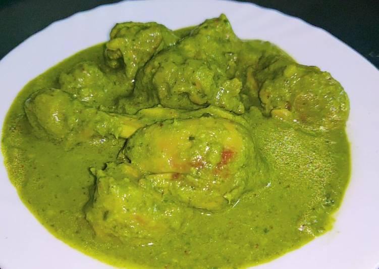 Palak Chicken Korma Restaurant Style Recipe