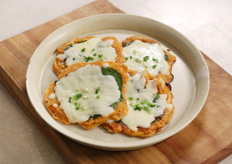 Kimchi Cheese Pancake (Savory Korean Jeon)