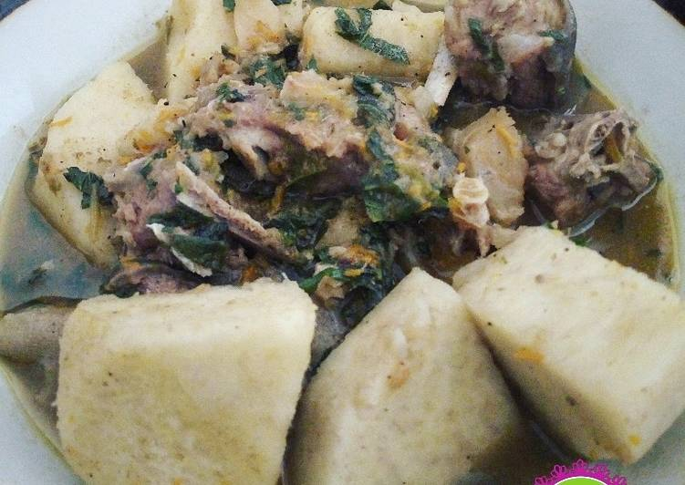 Easiest Way to Prepare Award-winning Goat meat, stock fish and yam pepper soup