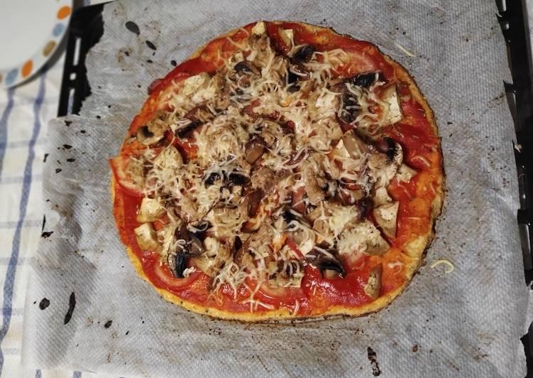 Base de pizza de coliflor