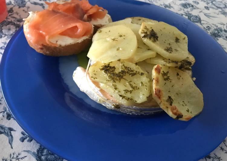 Rollè di salmone con patate