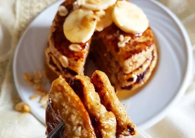 Pancakes healthy à la banane et aux flocons d'avoine🍯