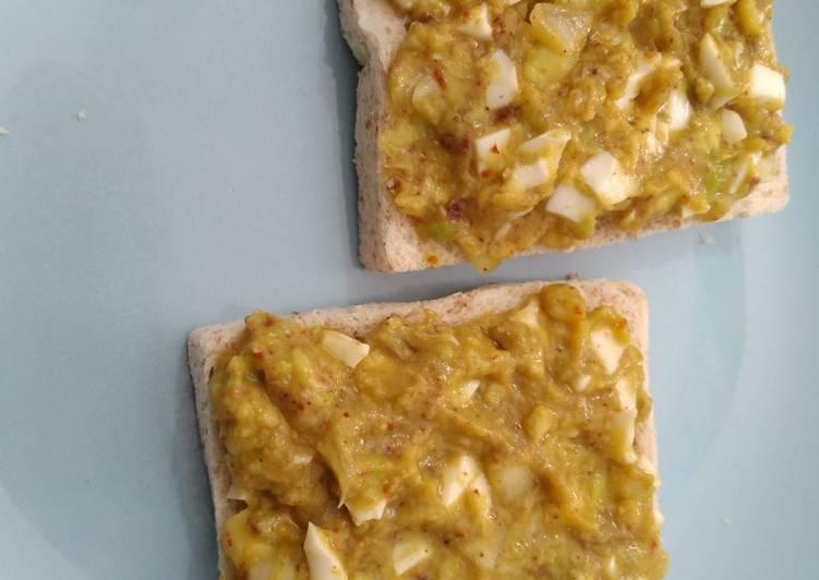 Guacamole sandwich sederhana