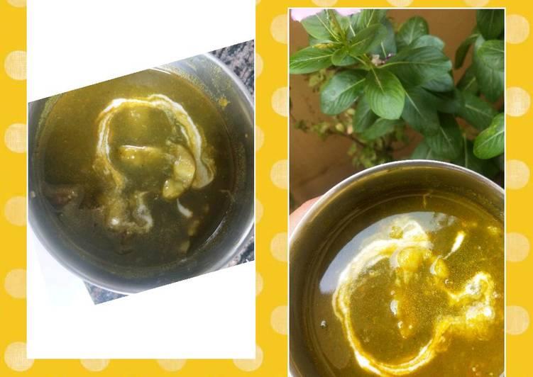 Recipe of Perfect Spinach-Potato Curry