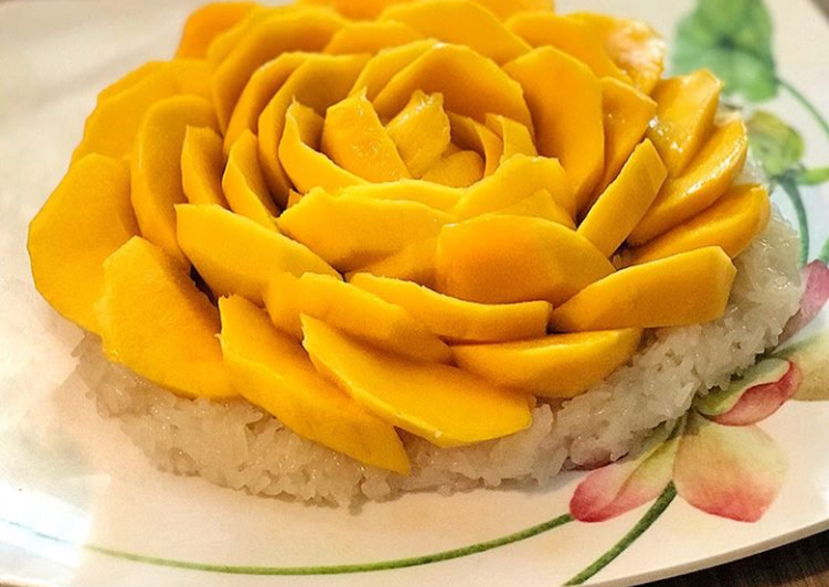 Easiest Way to Prepare Favorite White rice with Mangos