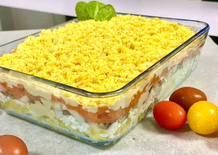 Recette Parfait Salade Mimosa