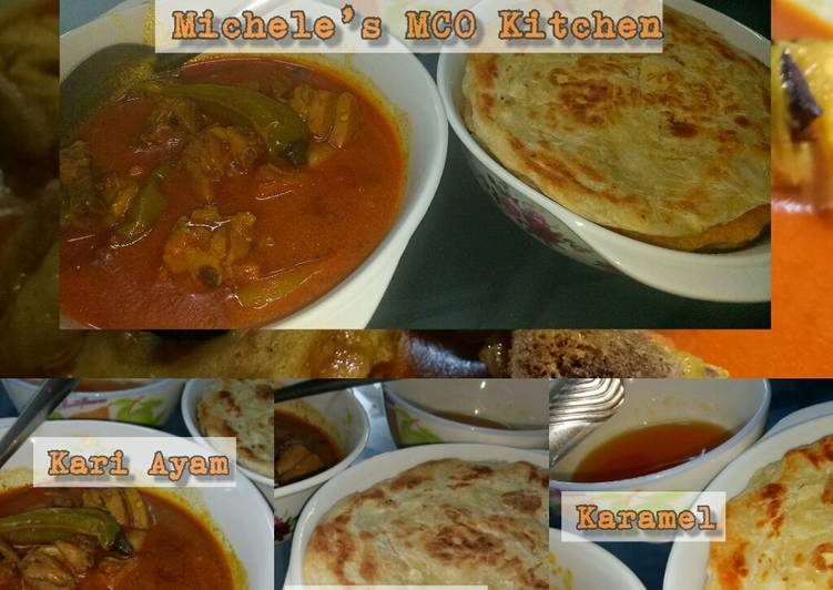 Roti Prata (with Curry Chicken or Caramel) Michele's Signature - velavinkabakery.com