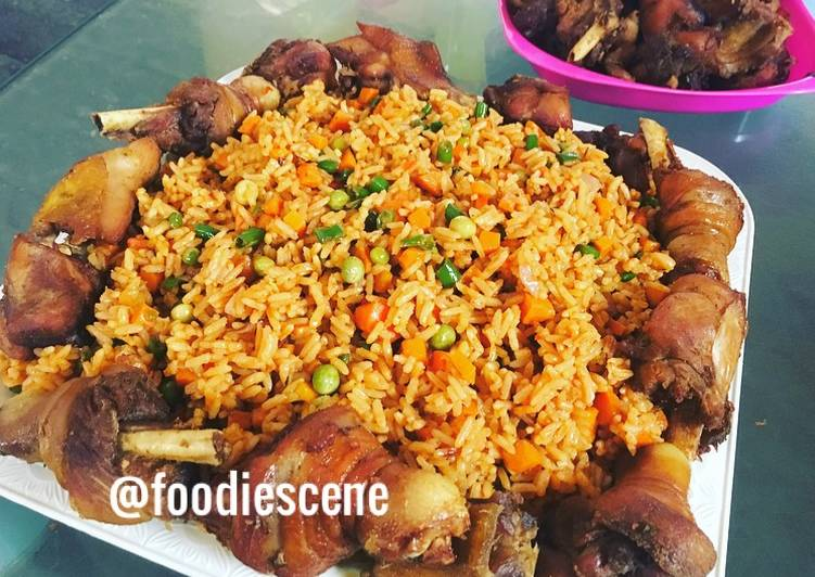 Step-by-Step Guide to Make Favorite Nigeria party jollof with vegetables