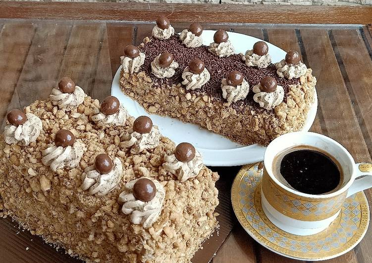 Coffee mocca cake with nougat mete Ceres