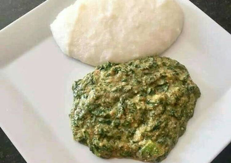 Spinach and pap