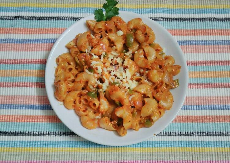 Red sauce macaroni pasta lndian style