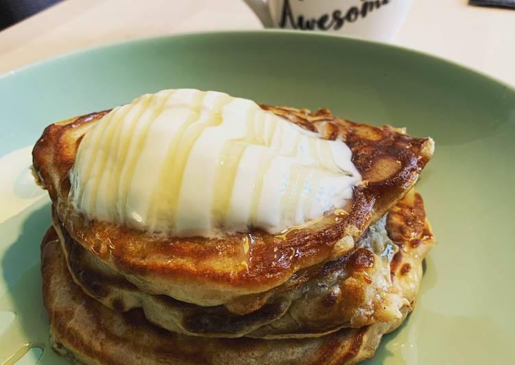 Recipe: Delicious Apple & Cinnamon Scotch Pancakes