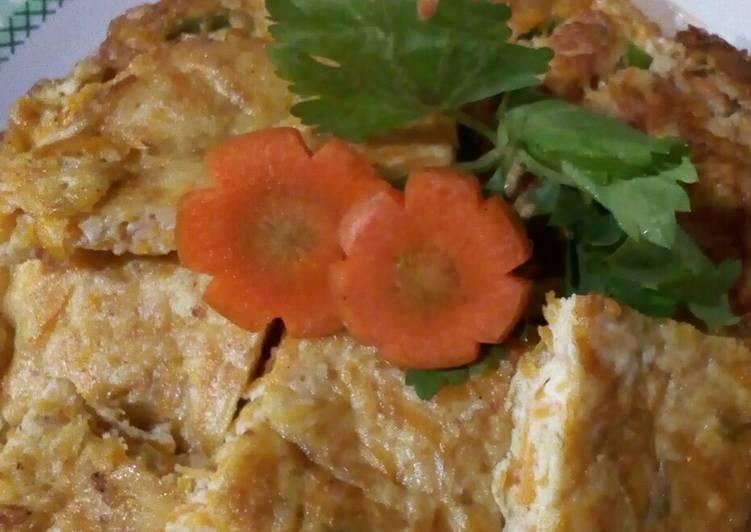 Dadar telur sehat (3 bintang: Prohe, Prona,dan Vit/sayur)