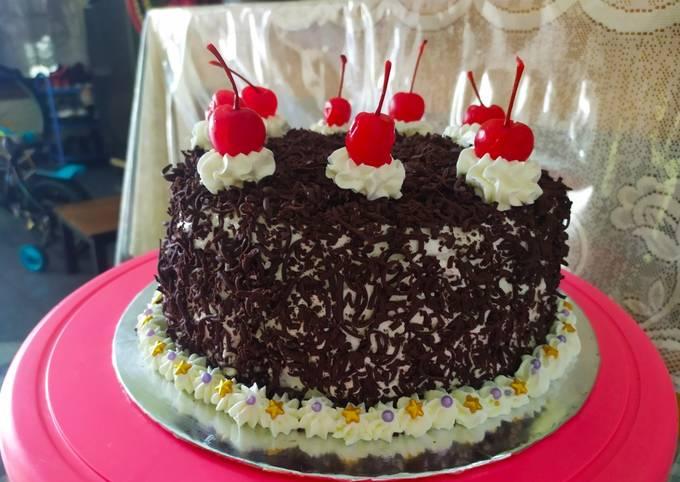 Base cake kukus (Blackforest)