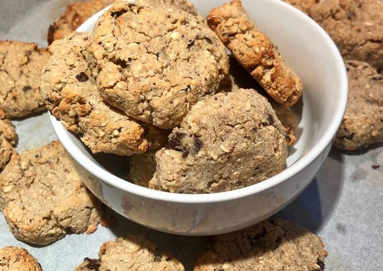 Galletas avena coco y chocolate sin azúcar
