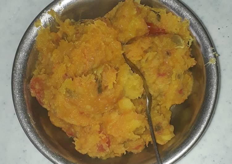 Steps to Make Favorite Malenge (Pumpkin) mixed with Matoke (Green Banana)