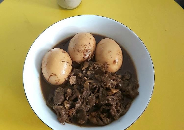 Semur Telur dan Daging