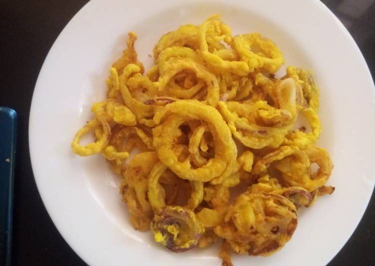 Recipe of Perfect Tumeric onion rings