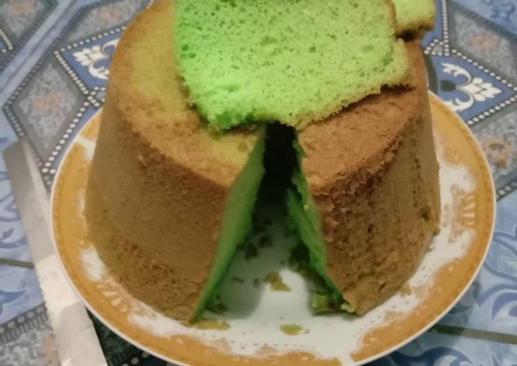 resep masak Sifon cake pandan nutrijel kelapa - Sajian Dapur Bunda
