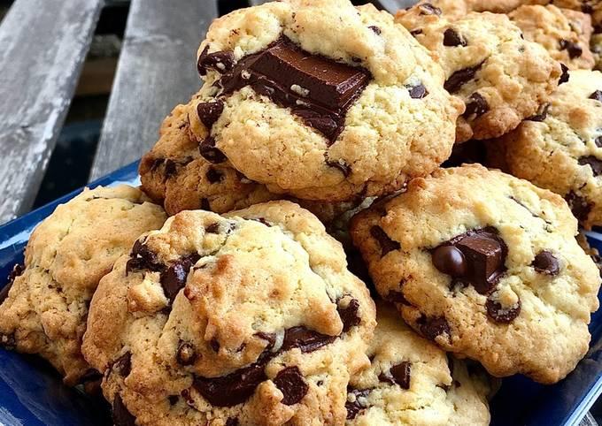 Cookies coeur coulant