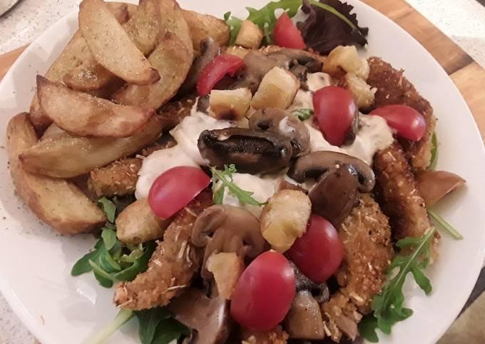 Sig's creamy pork and mushroom salad