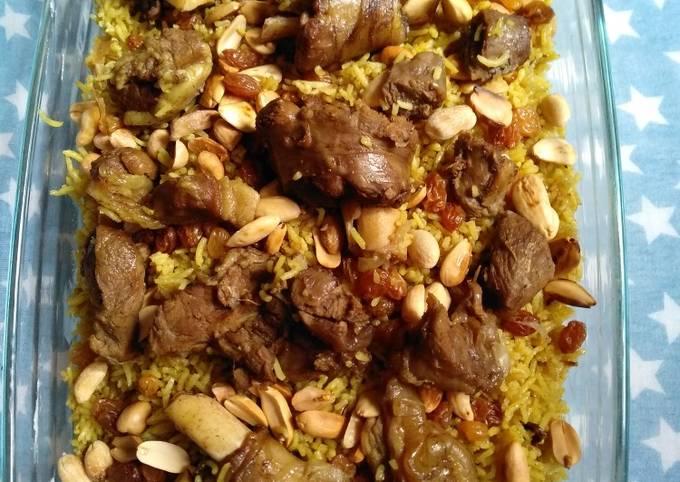 Nasi Mandhi Daging Kambing