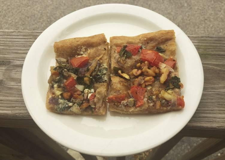 Walnut Blue Cheese Whole Wheat Pizza
