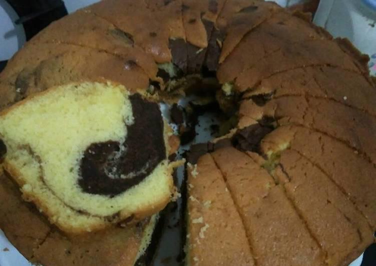 Resep Marmer cake anti gagal oleh veeraa - Cookpad