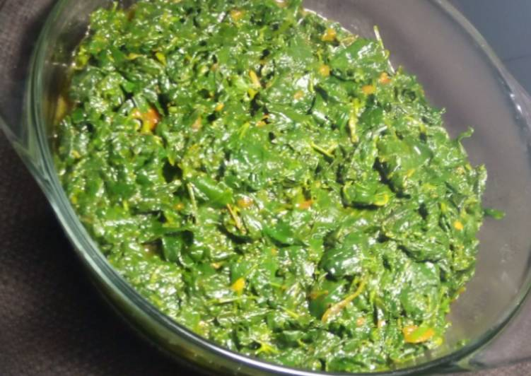 Traditional veges (cowpeas leaves,miro,dodo)