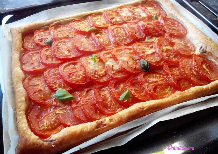 Tarte Tomate Moutarde Basilic