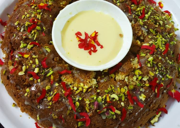 Simple Way to Make Top-Rated Pistachio dry fruit rose cake