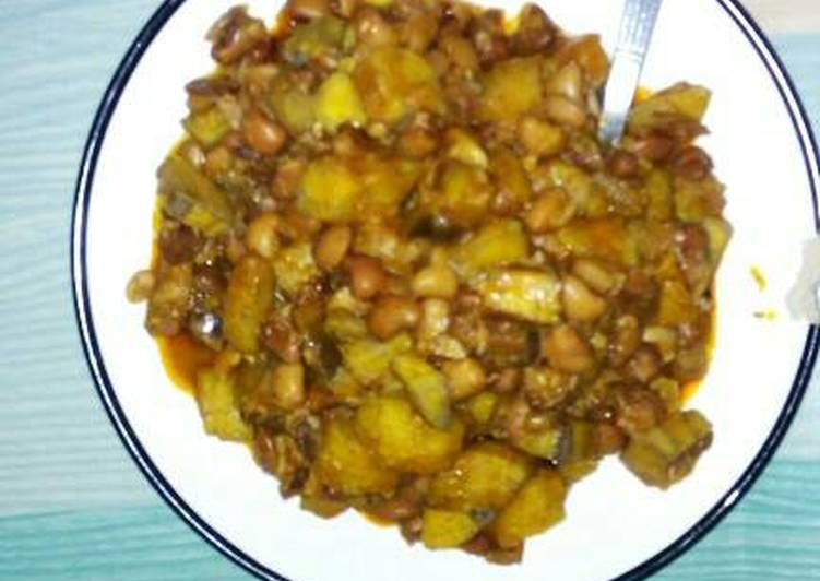Beans and riped plantain
