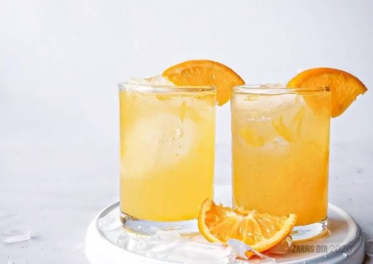 Iced Orange Juice ala Twister Tropicana - resepipouler.com
