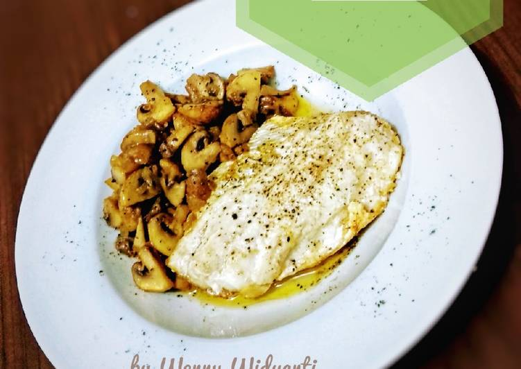 Baked Barramundi with Buttered Mushroom #ketopad_cp_Baking