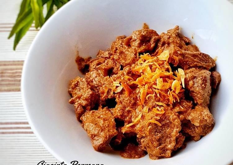 Rendang daging bumbu instan