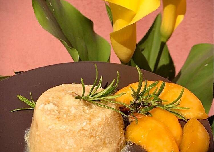 Ricetta Semifreddo Tofu, Rosmarino e Pesche 🍮🌿🍑