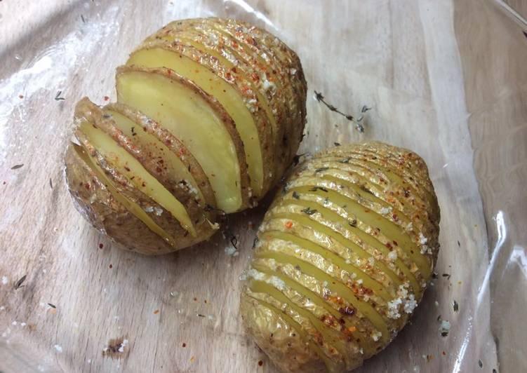 Pomme de terre rôtie au four à l'huile de truffe du Périgord