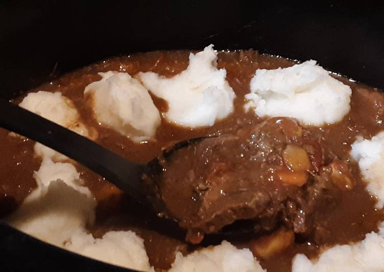 Crockpot Potato Topped Swiss Steak