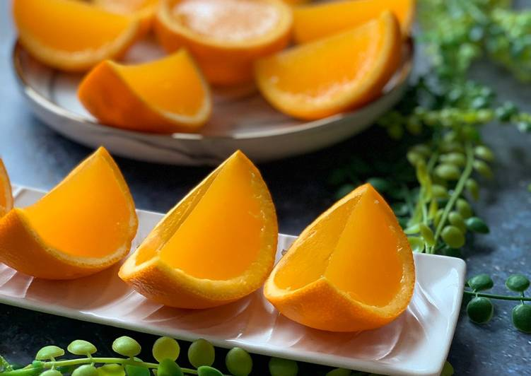 Simple Way to Prepare Perfect �Fresh Orange Jelly �