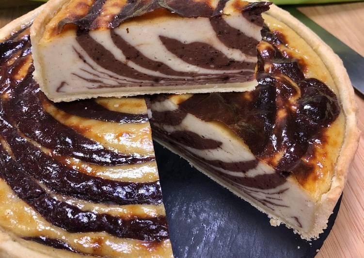 Le moyen le plus simple de Préparer Parfait Recette Flan zébré chocolat - vanille
