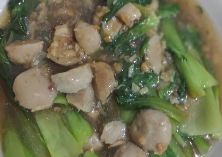 Resep Sayur Pakcoy bakso Yang Mudah Pasti Endes