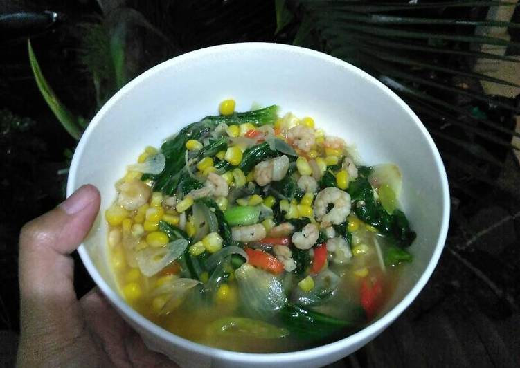 Sayur Pakcoy Jagung dan Udang