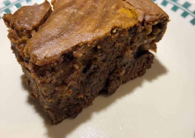 Easiest Way to Make Perfect Pumpkin Swirl 🎃 Cake Brownies